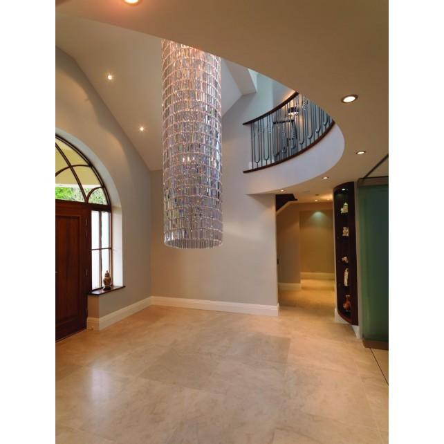 Impex Crystal Art Ceiling Light - 5 Light, Polished Chrome