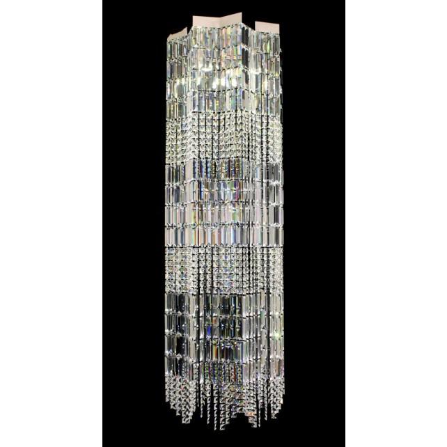 Impex Crystal Art Light - 4 Light, Polished Chrome