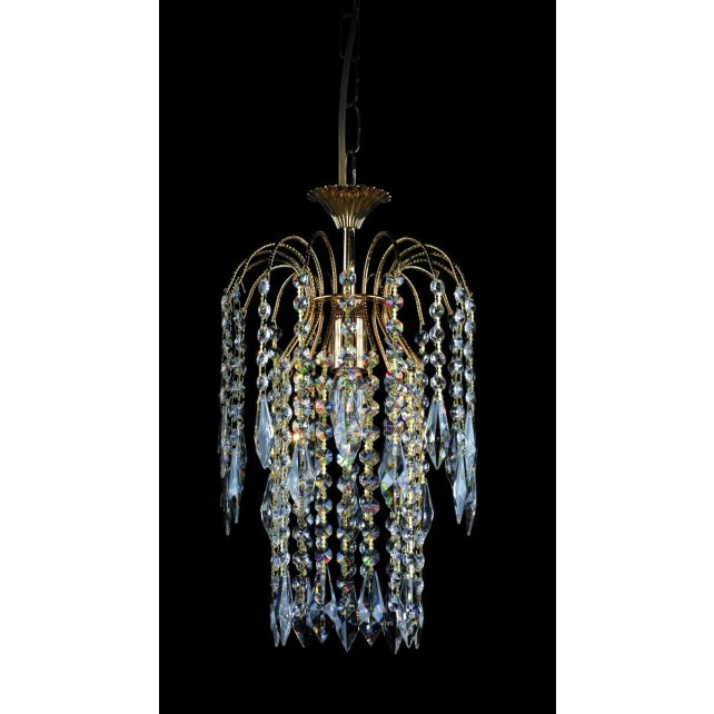 Impex Shower Chandelier - 1 Light, Gold Plated
