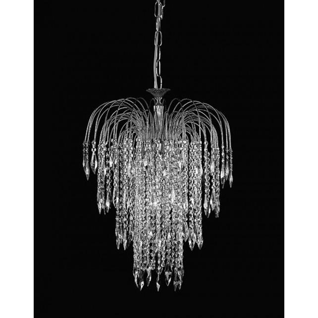 Impex Shower Chandelier Antique Nickel - 6 Light