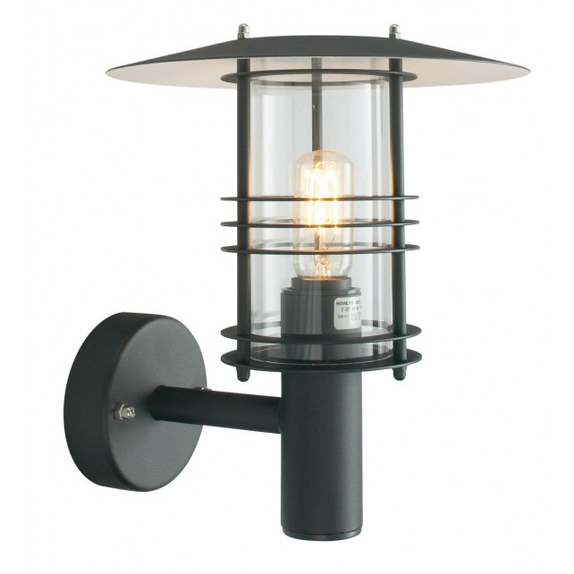 Norlys ST1 BLACK Stockholm Wall Lantern Black
