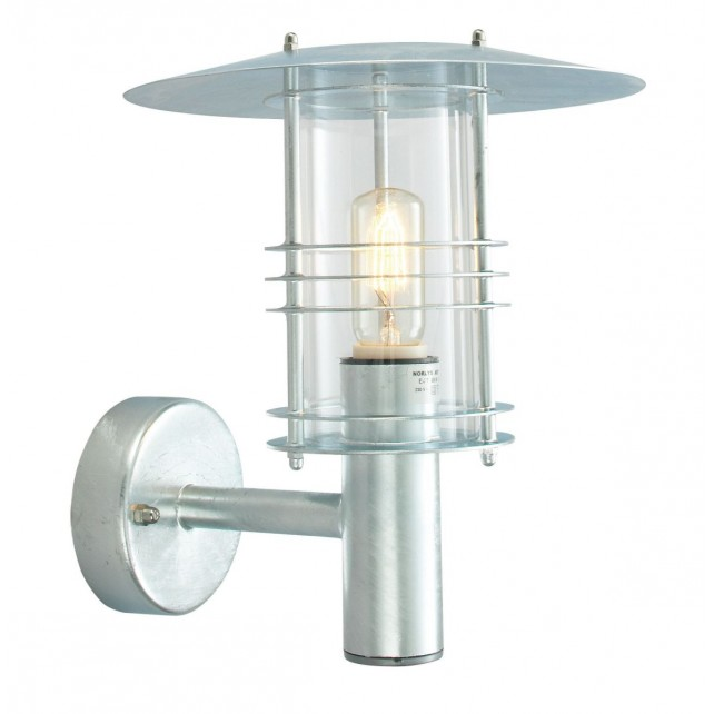 Norlys ST1/G GAL Stockholm Wall Lantern Grande Galvanised