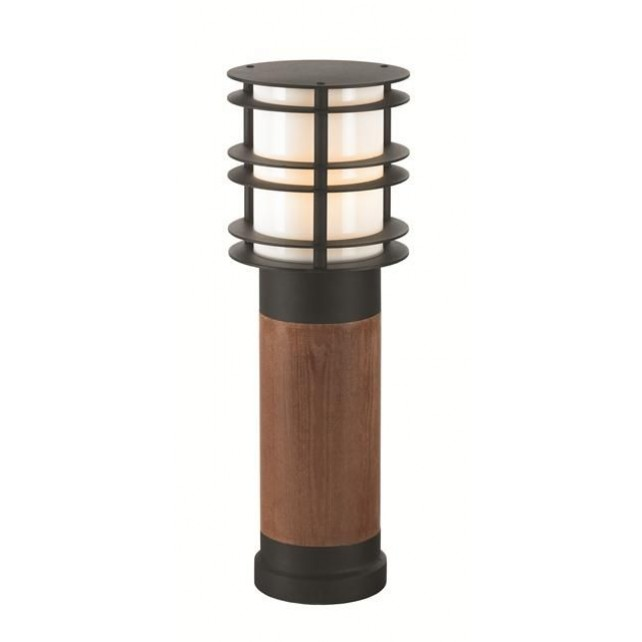 Norlys ST/BOLSW M E27 B Stockholm Medium Wooden Bollard E27 Black