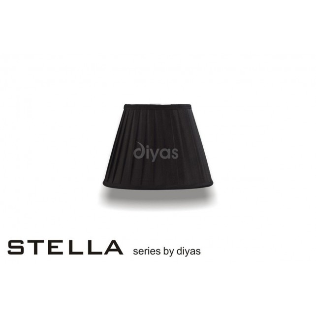 Diyas Stella Round Shade Black 200mm