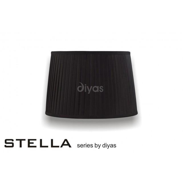 Diyas Stella Round Shade Black 350mm