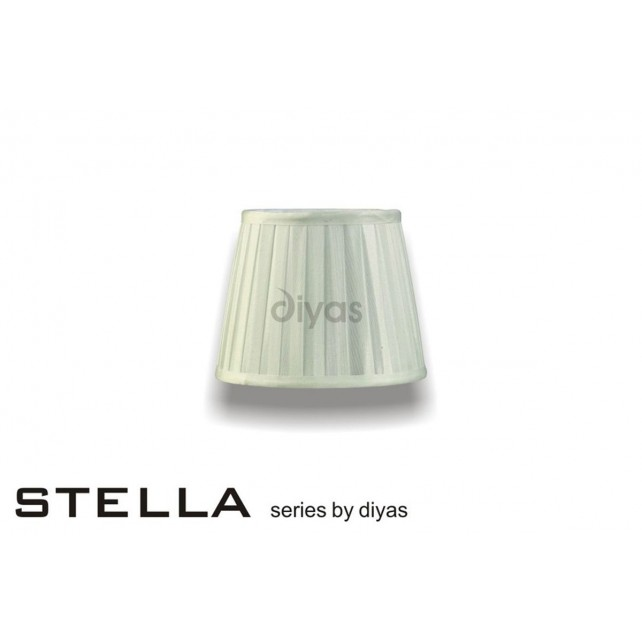 Diyas Stella Round Shade Ivory 200mm