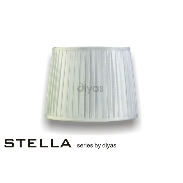 Diyas Stella Round Shade White 300mm