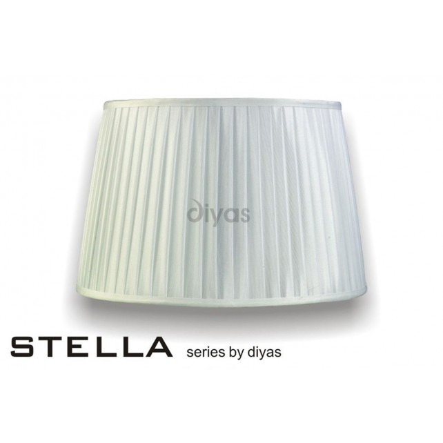 Diyas Stella Round Shade White 400mm