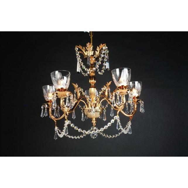 Impex Livorno Chandelier Gold - 5 Light