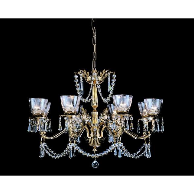 Impex Livorno Chandelier Gold - 8 Light