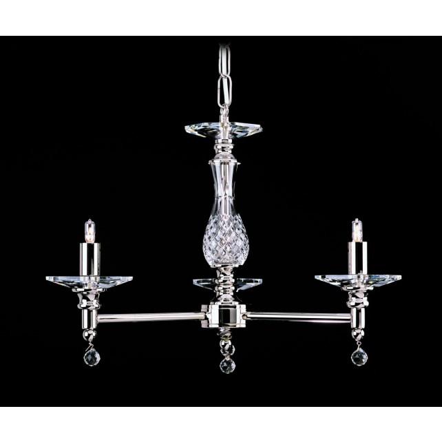 Impex San Marino Chandelier - 3 Light, Satin Chrome & Nickel