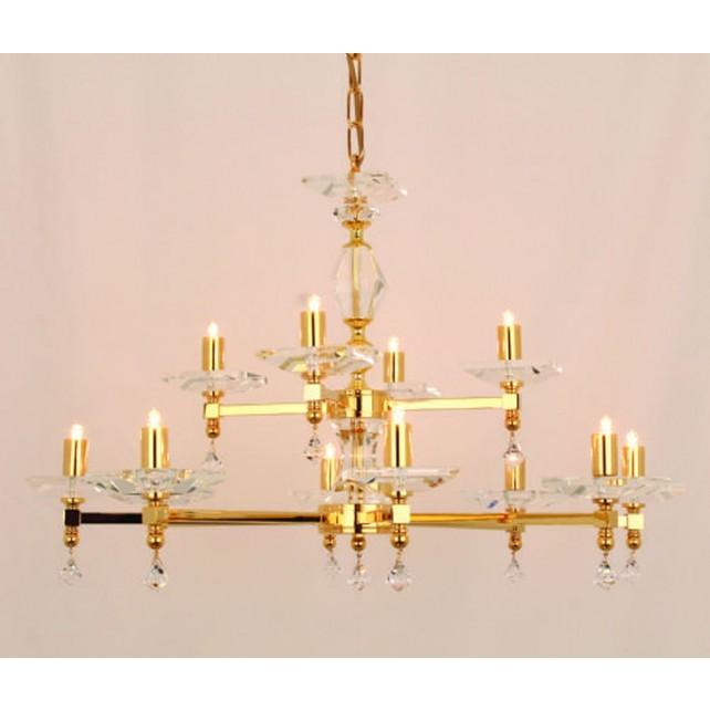 Impex Capri Chandelier Gold - 12 Light
