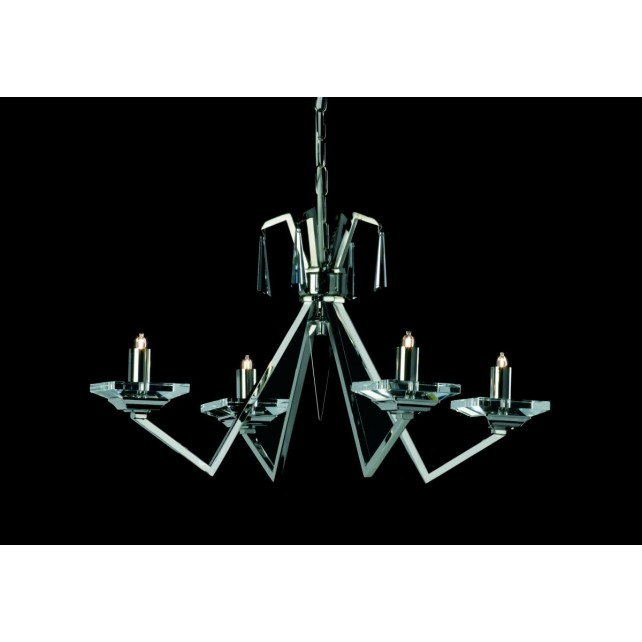 Impex Nice Chandelier Nickel - 4 Light