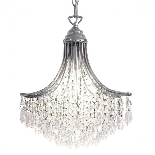 Suri Ceiling Light - Crystal Flush - Polished Chrome