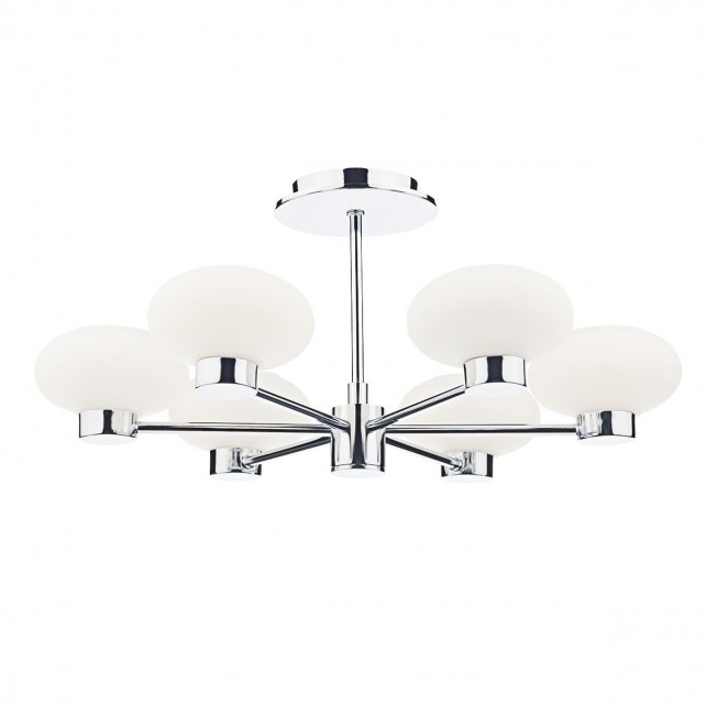 System 6 Light Semi Flush Polished Chrome