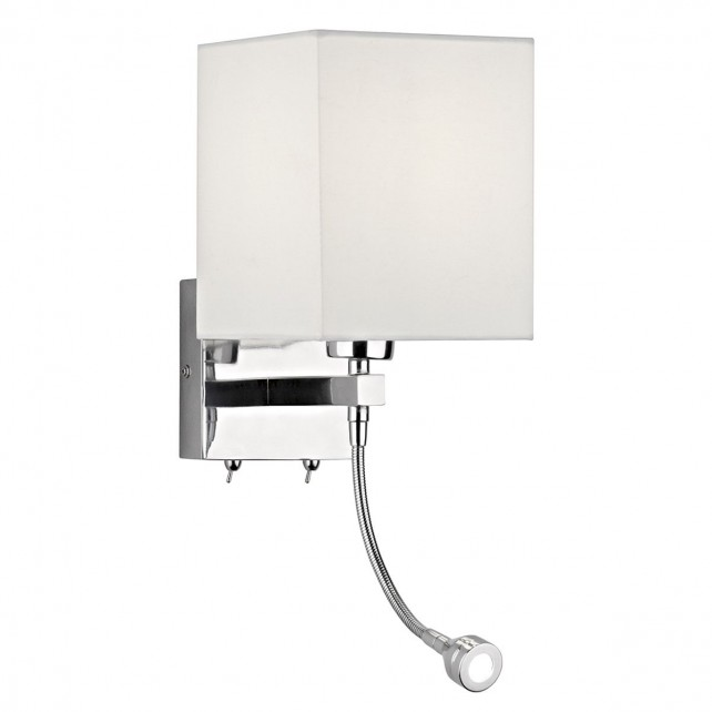 Tatton Wall Light with LED arm - Complete with Shade