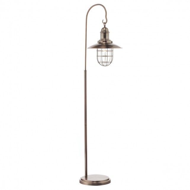 Dar Terrace Floor Lamp Copper