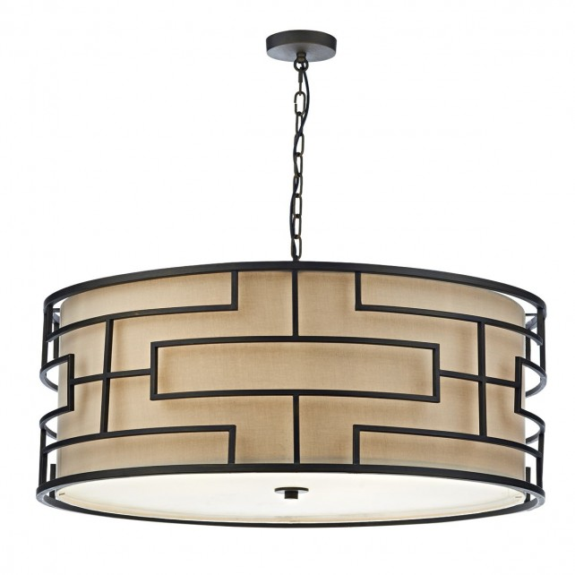 Tumola 6 Light Pendant Bronze 90CM