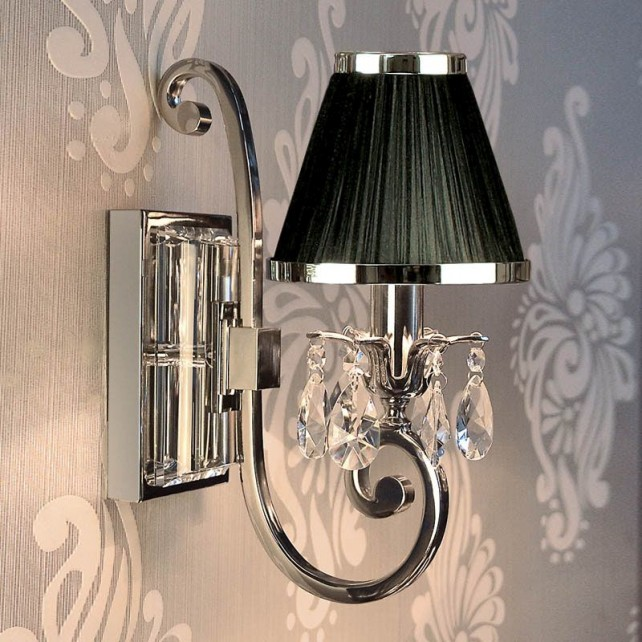 Interiors1900 Oksana Single Wall Light in Nickel