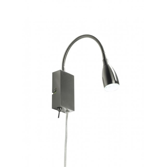 Uno Wall Light (Reading Light) - Satin Chrome
