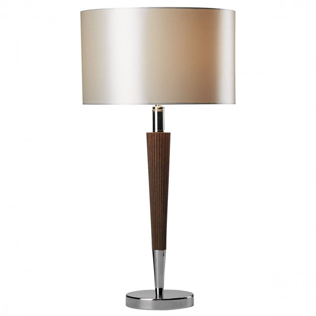 Viking Table Lamp - c/w cream linen shade