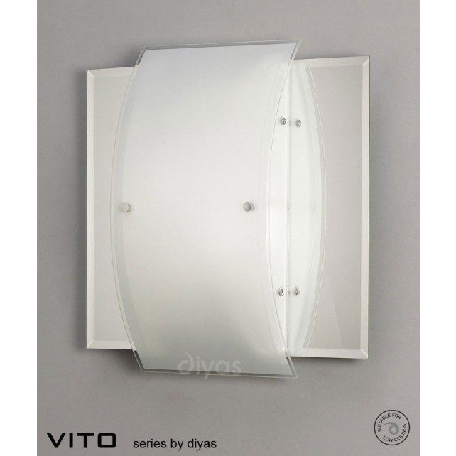Diyas Vito Ceiling/Wall 1 Light Polished Chrome/Mirror