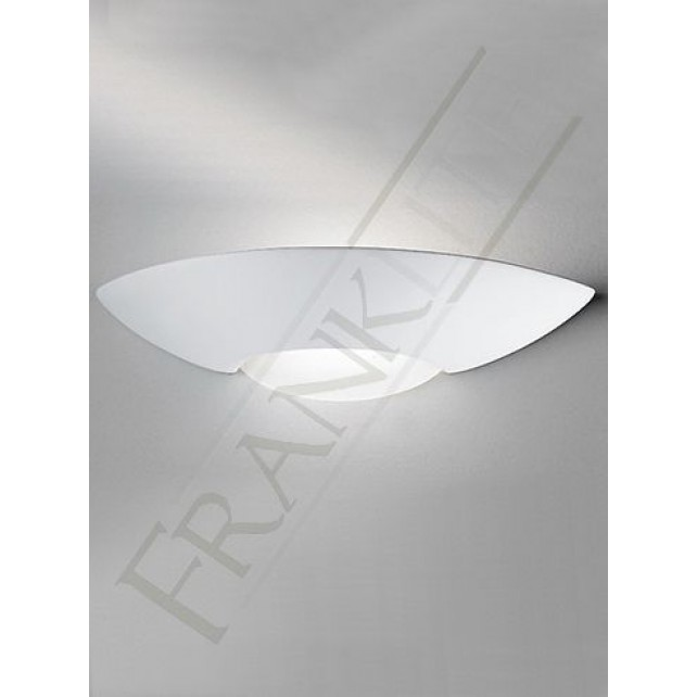 Franklite Ceramic Uplighter - 1 Light, Can be Painted, With Glass bottom