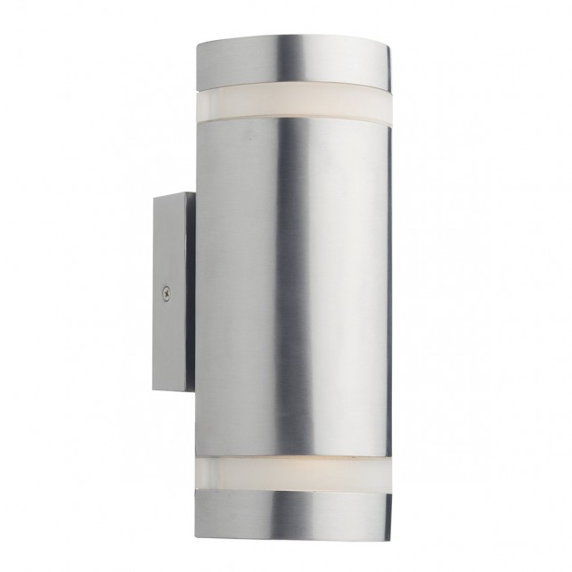 Wessex 2 Light Cylinder Stainless Steel Wall Bracket Led IP44
