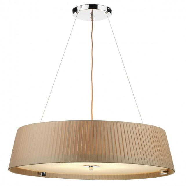 Wheel 5 Light Taupe Pendant