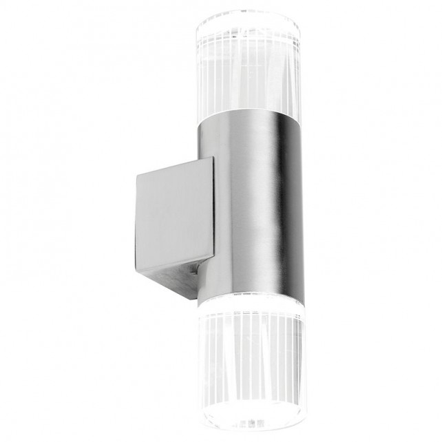 S/Steel Wall Light - Crystal Diffuser & LEDs
