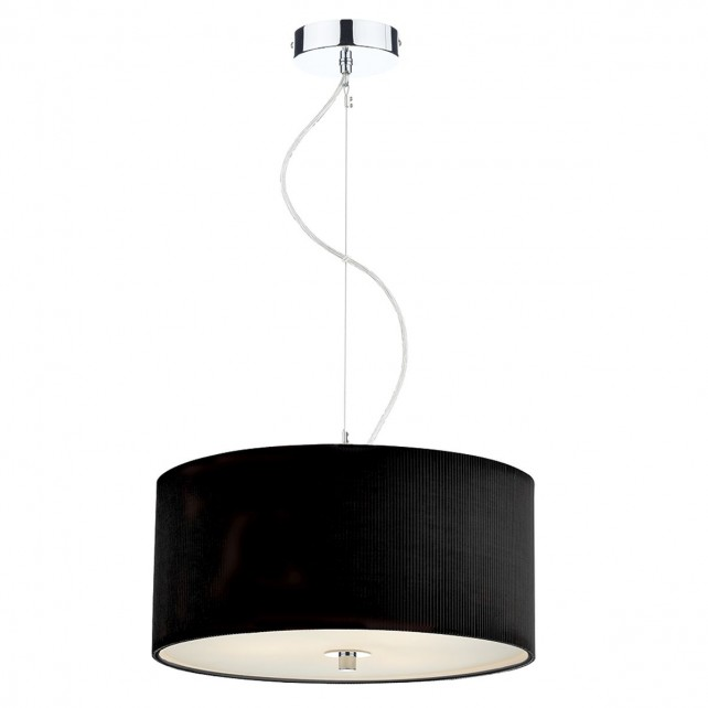 Zaragoza Pendant Light - 40cm 3 Light Black