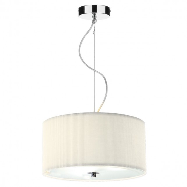 Zaragoza Pendant Light - 40cm 3 Light Cream