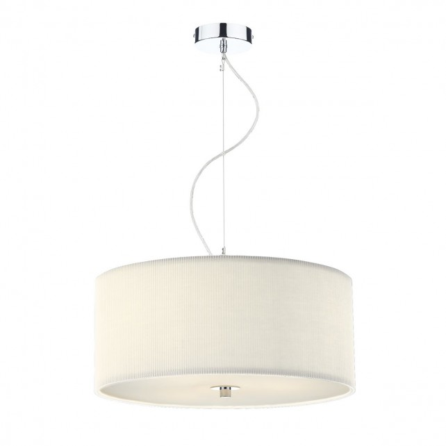 Zaragoza Pendant Light - 60cm 3 Light Cream