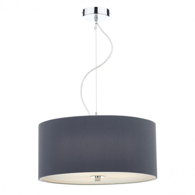 Zaragoza Pendant Light (60CM) - 3 Light, Grey